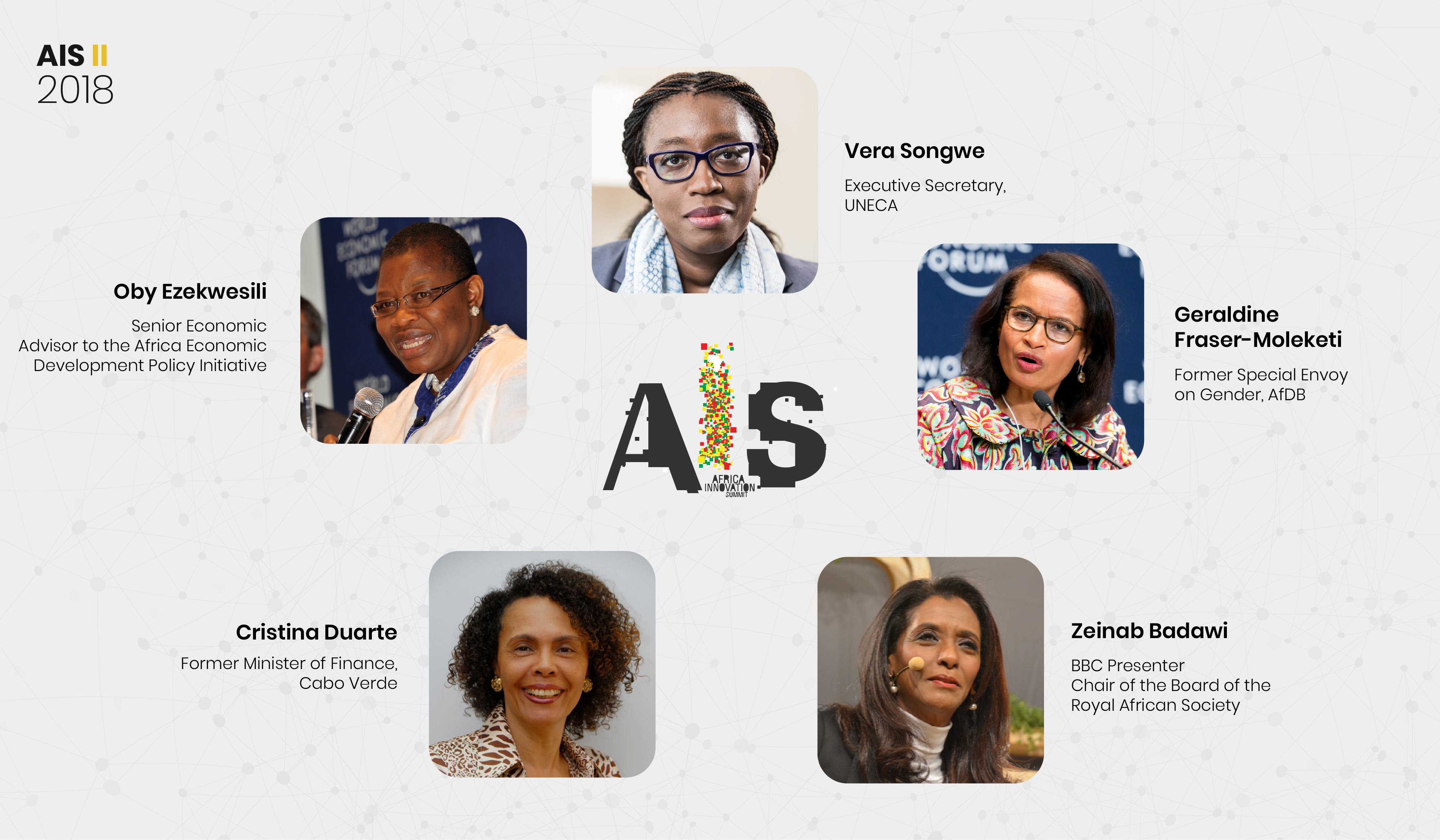 Five Leading African Women confirmed participation to the #AIS2018